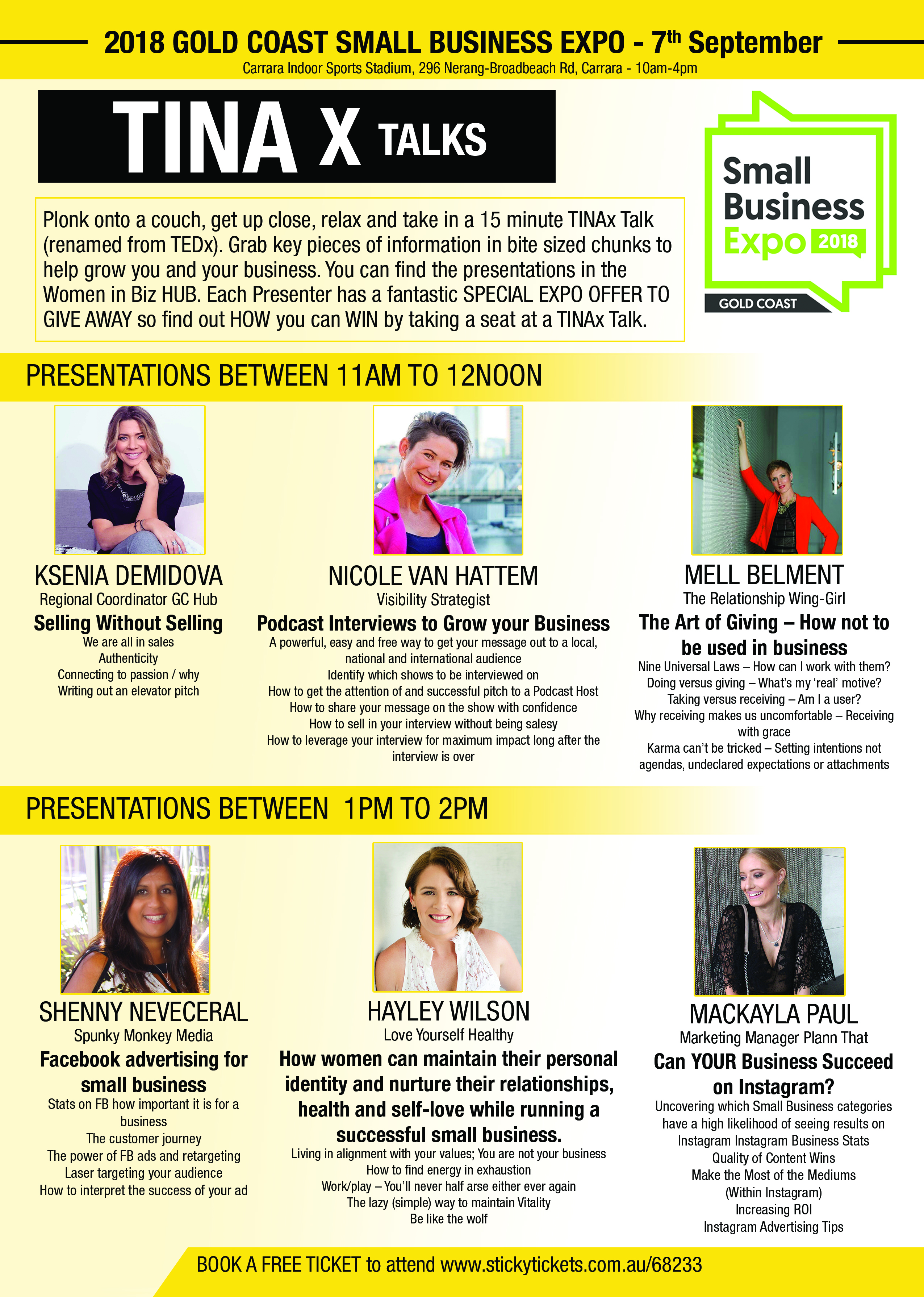 Business Expos | Brisbane | Gold Coast | Small Business Expos | Gc Tinax Flyer V2.0