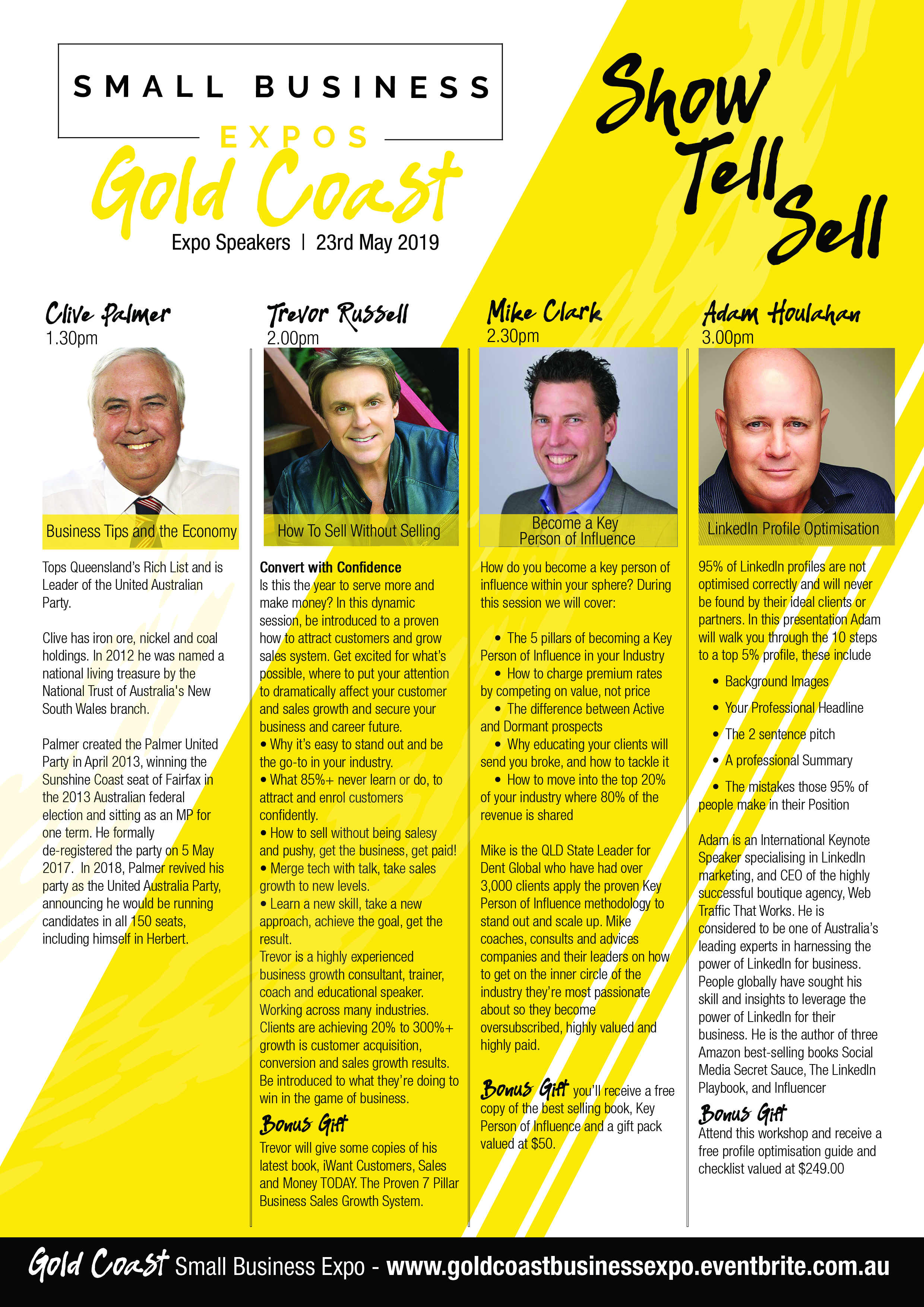 Business Expos | Brisbane | Gold Coast | Small Business Expos | Gc Speaker Flyer