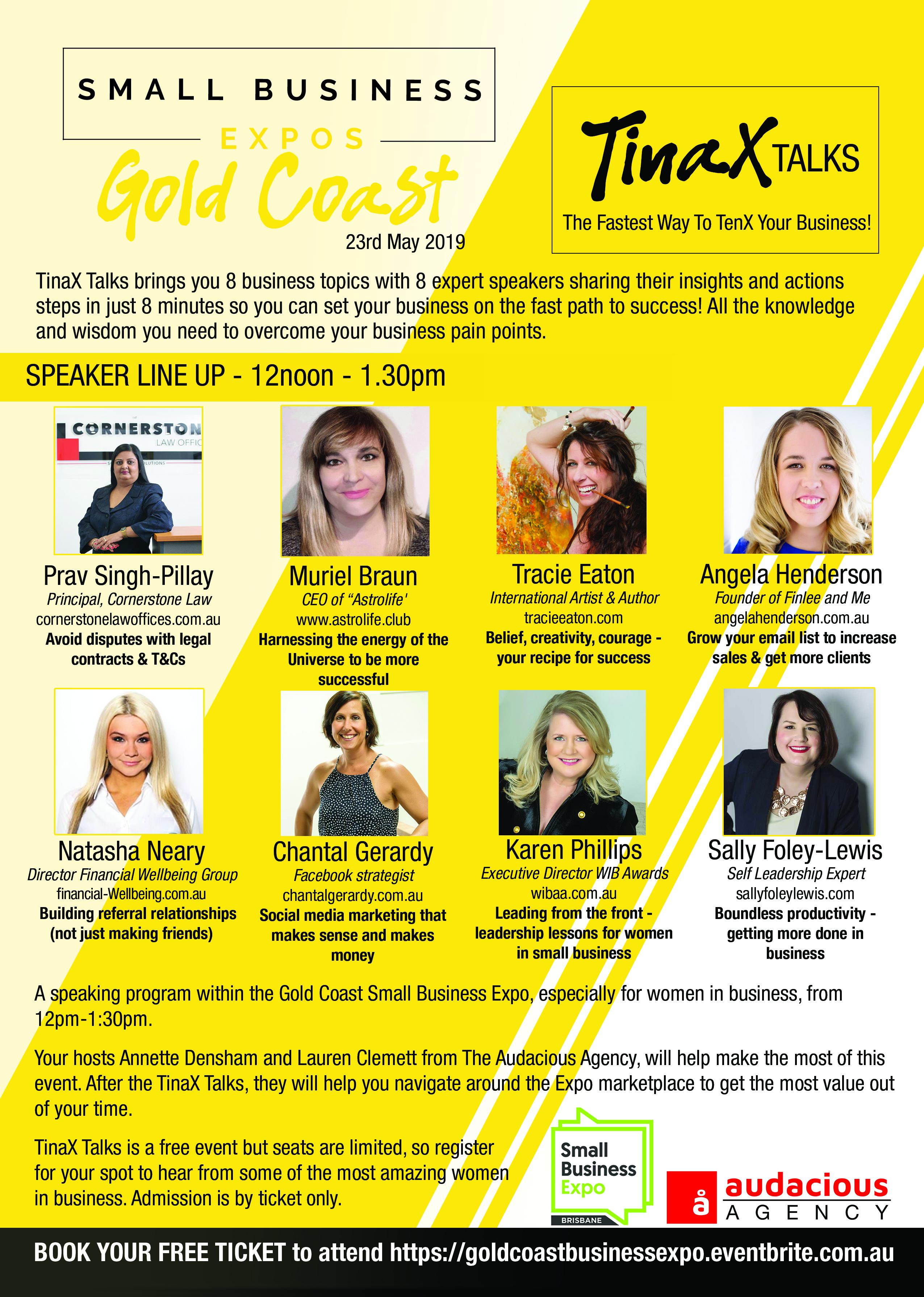 Business Expos | Brisbane | Gold Coast | Small Business Expos | Gc Tinax Flyer
