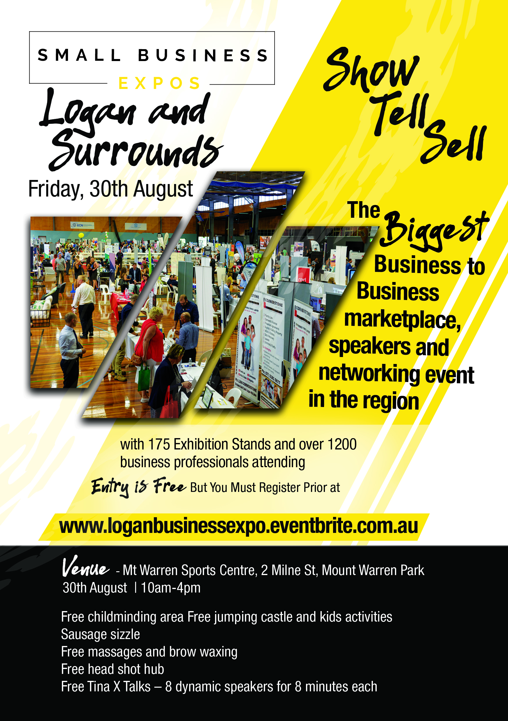 Business Expos | Brisbane | Gold Coast | Small Business Expos | Logan Business Expo Flyer Front
