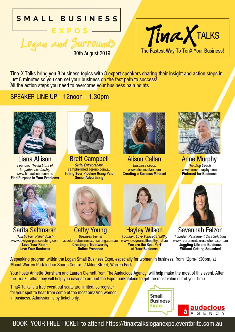 Business Expos | Brisbane | Gold Coast | Small Business Expos | Small Business Expos Tinax Talks Logan Flyer Copy