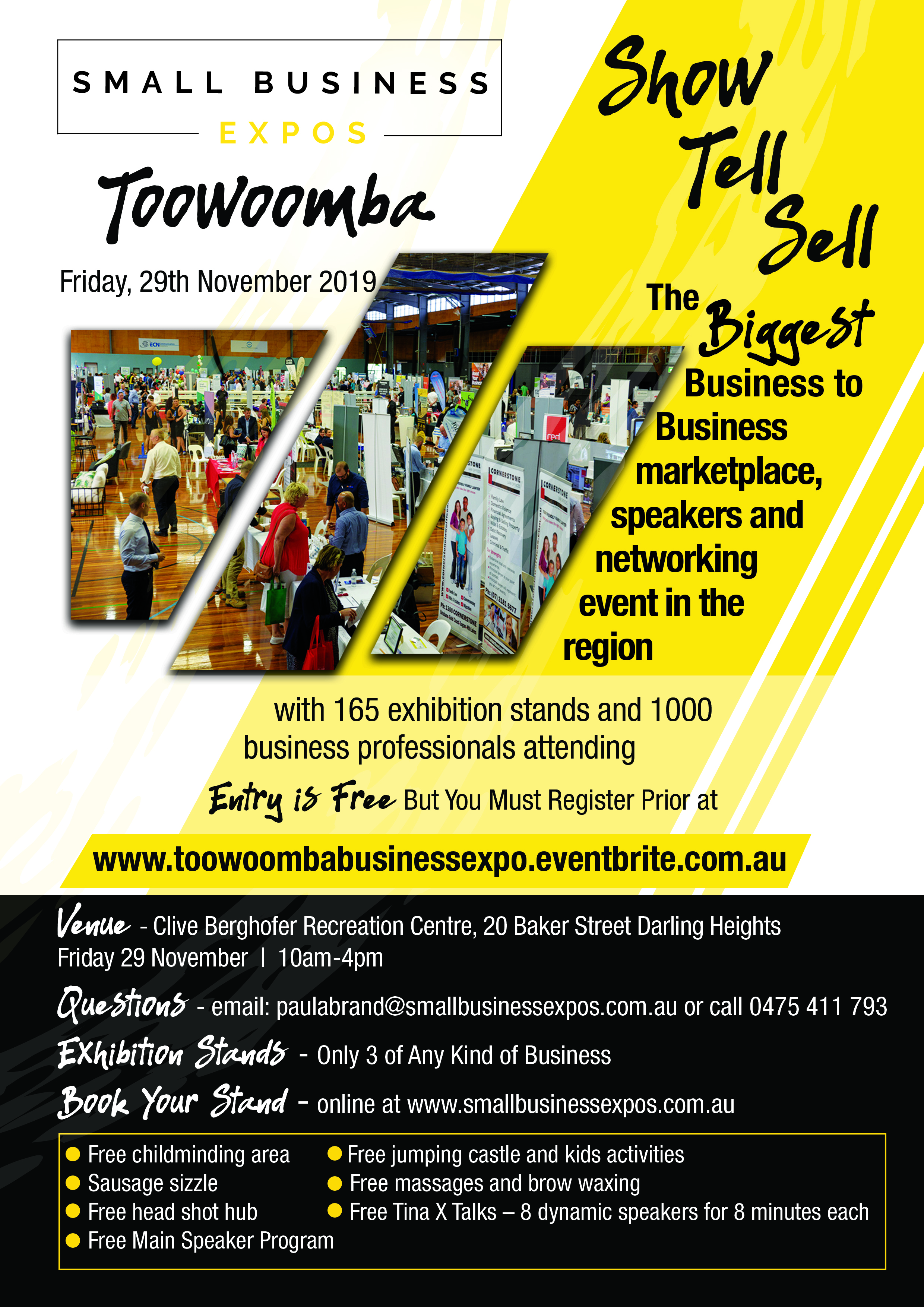 Business Expos | Brisbane | Gold Coast | Small Business Expos | A4 Flyer Toowoomba V2.0