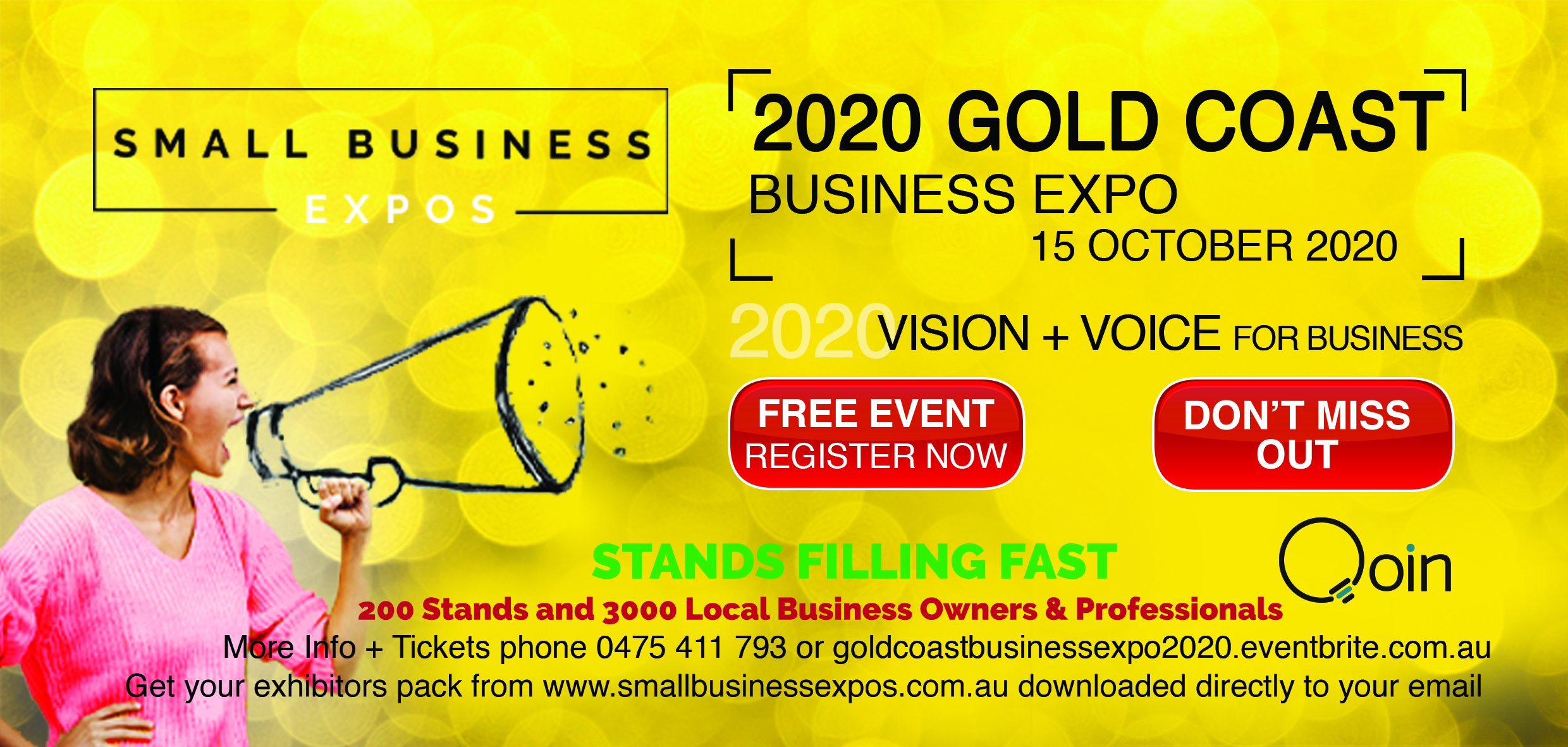 Business Expos | Brisbane | Gold Coast | Small Business Expos | Gold Coast 2020 Dl Flyer Qoin Version