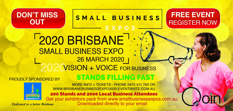 Business Expos | Brisbane | Gold Coast | Small Business Expos | Brisbane 2020 Dl Flyer Qoin Version